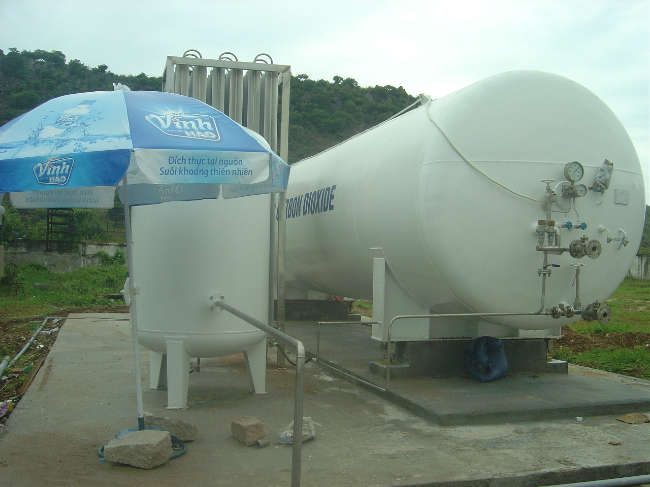 Storage tanks and transport liquid CO2